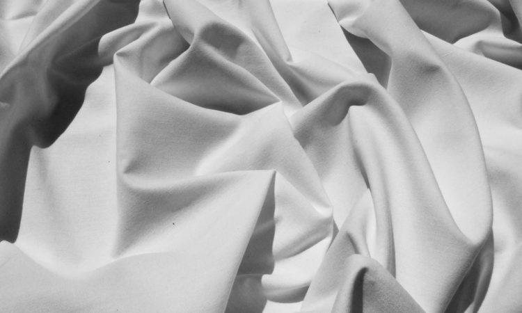 White sheet crumpled