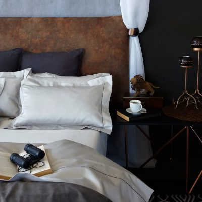 Oyster bed linen African safari