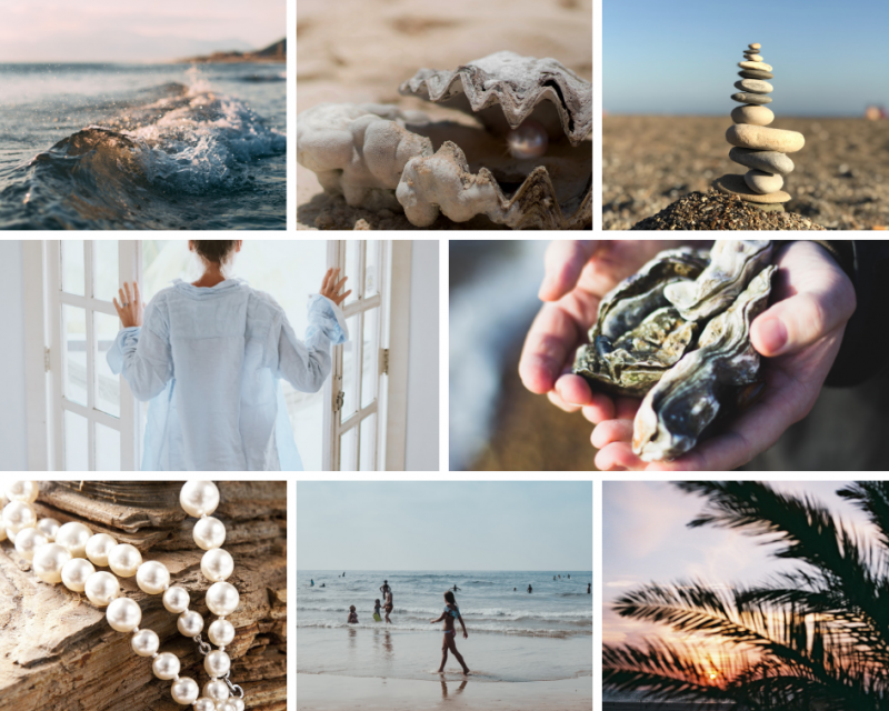 Oyster bed linen moodboard