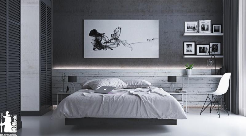 black-and-white-classic-bedroom-design