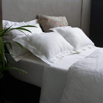 White Yin Yang bed linen by Falucca Fine Linen