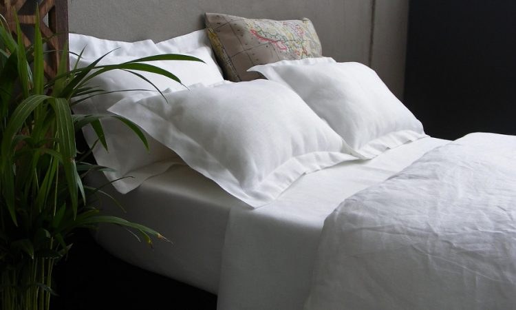 White Yin Yang bed linen by Falucca Fine Linen