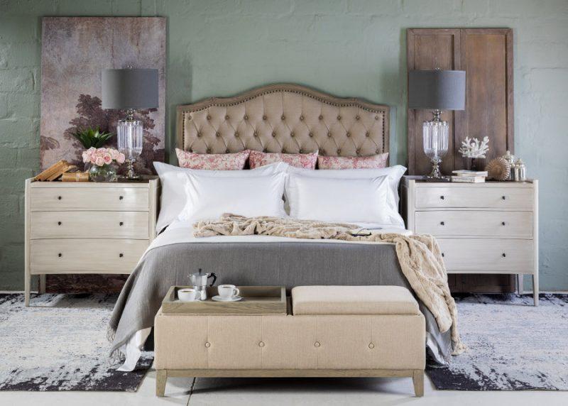 Bed styled romantic, feminine, whimsical