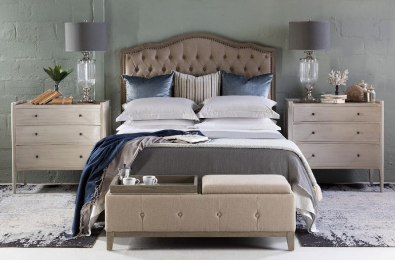 bedroom block & chisel french classic bedroom blue